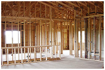 House Frame - New Home Construction - Woelfel Building Construction, Inc.